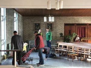 Restoration Work in Ballylinan Church